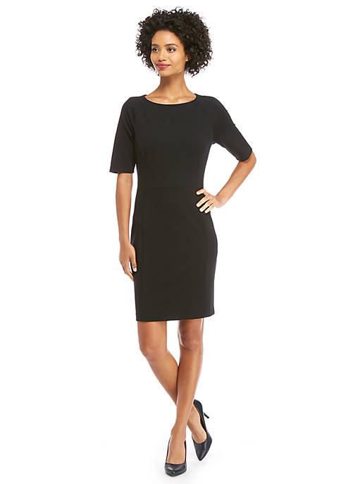 Petite Elbow Sleeve Ponte Dress