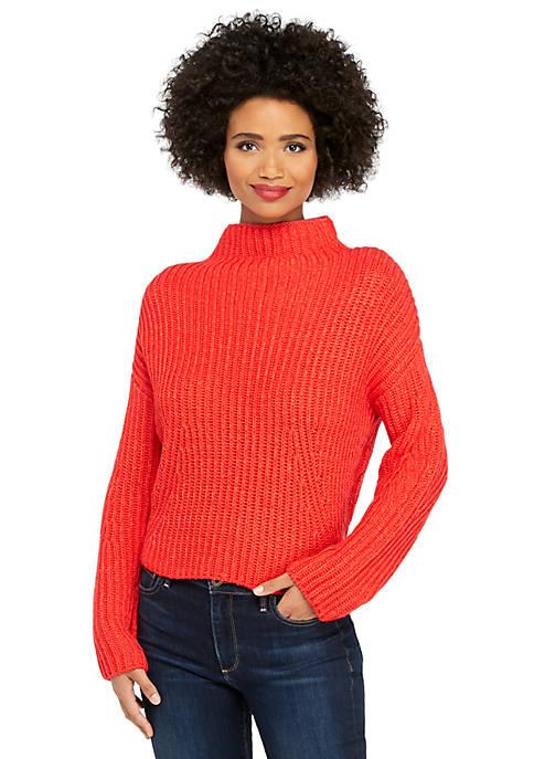 Funnel Neck Crop Sweater