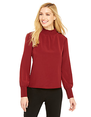 38611cd28d74b Mock Neck Puff Sleeve Top | THE LIMITED