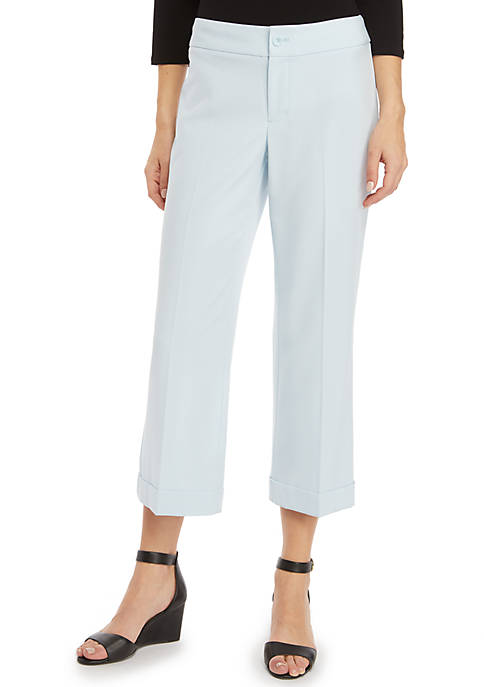 Signature High Waisted Wide Leg Pants in Modern Stretch