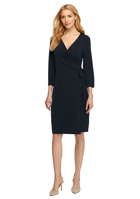 109edcd59deb THE LIMITED Collarless Wrap Dress. Collarless Wrap Dress