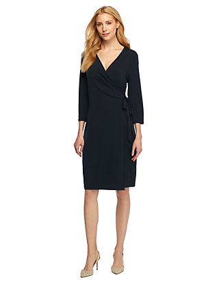 317e5521e87c Collarless Wrap Dress   THE LIMITED