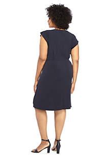 Plus Size Ruffle Dress