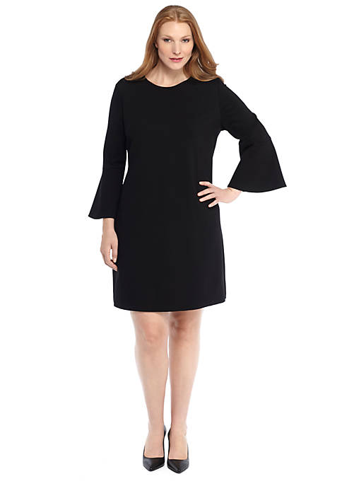 Plus size bell sleeve ponte knit dress the limited plus size bell sleeve ponte knit dress publicscrutiny Images
