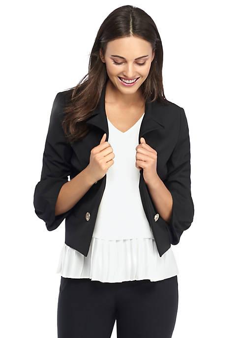 Petite Buckle Sleeve Jacket