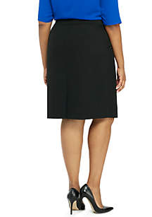 Plus Size Signature Pencil Skirt in Modern Stretch