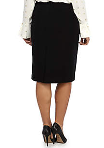 Plus Size Signature Pencil Skirt in Ponte