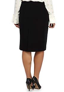 Plus Size Signature Pencil Skirt in Ponte