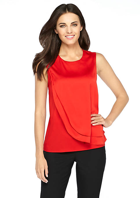 Asymmetrical Ruffle Layered Top