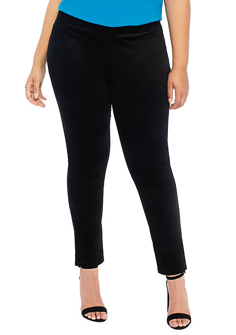 Plus Size Signature Pull-on Skinny Pant in Velveteen Stretch