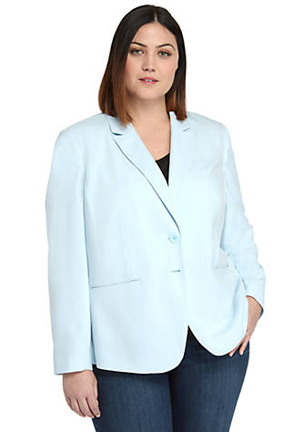 Plus Size 2 Button Blazer in Modern Stretch