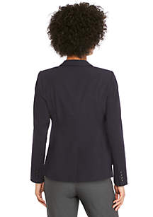 Petite Two Button Blazer in Modern Stretch