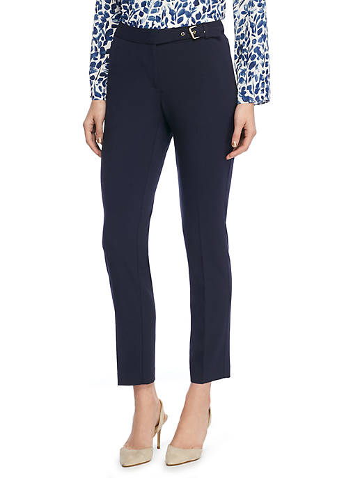 Signature Skinny Pant with Side Buckle in Modern Stretch