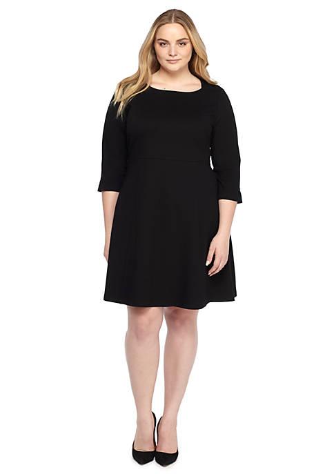 Plus Size Square Neck Ponte Dress The Limited