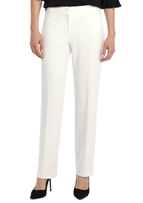 Signature Straight Pant in Two Way Spandex Twill