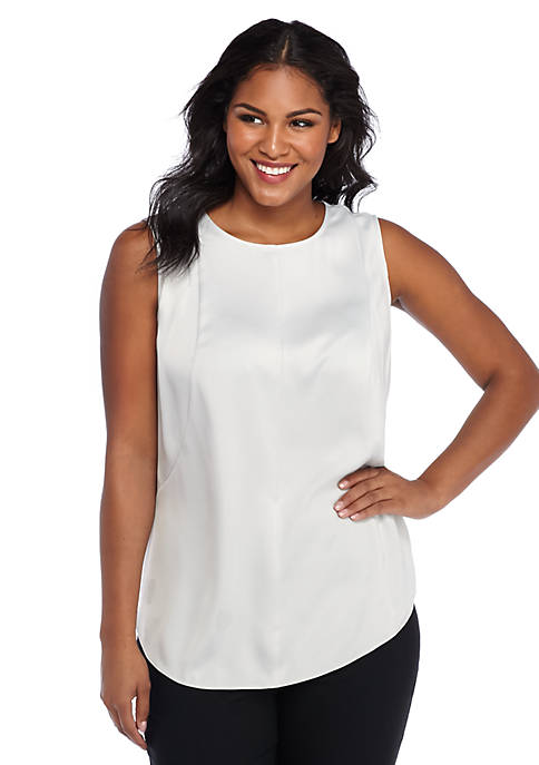 Plus Size Drape Shell Top