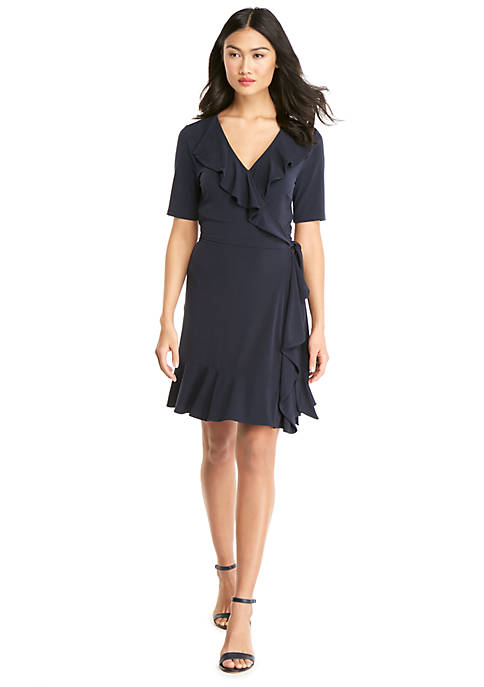 Shortened Ruffle Front Dress