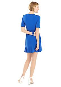 Petite Ruffle Jersey Dress
