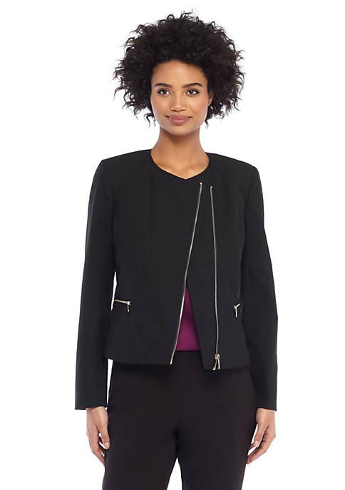 Asymmetrical Zip Moto Jacket