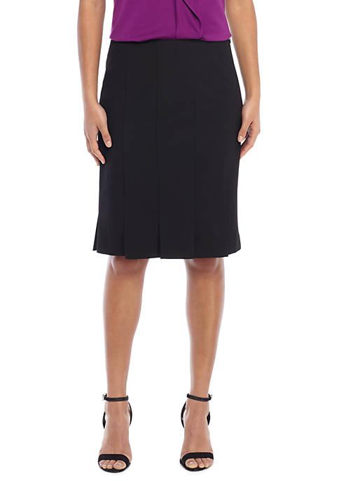 Petite Box Pleat Pencil Skirt