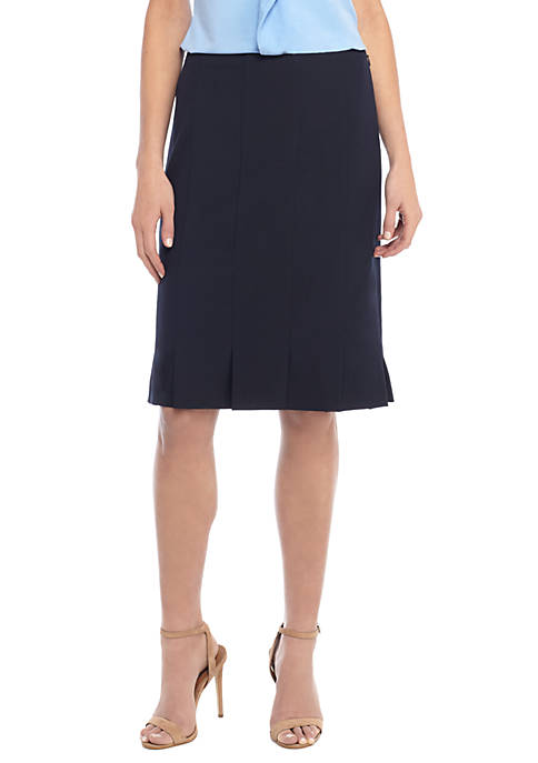 Petite Box Pleat Pencil Skirt