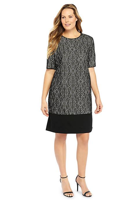 Plus Size Lace Stripe Sheath Dress The Limited