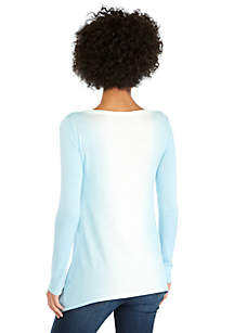 Curve Hem Tunic Sweater