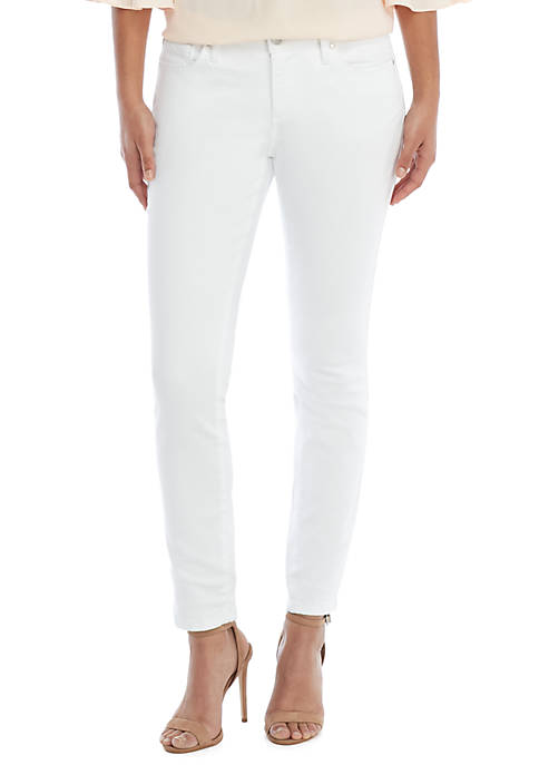 Skinny Full Length White Jeans