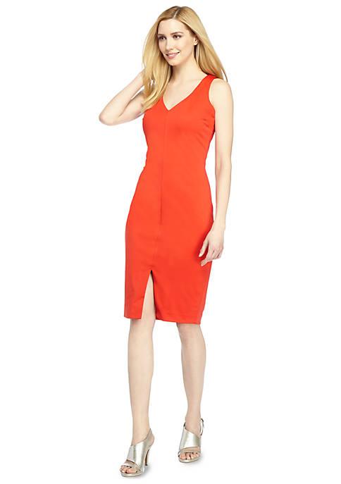 Taylor V Neck Sheath Dress