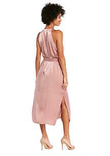 Sleeveless Button Front Midi Dress