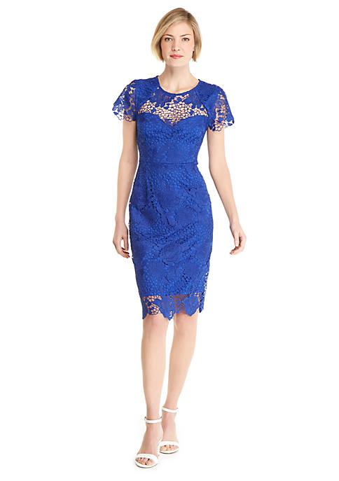 Cap Sleeve Lace Bodycon Dress