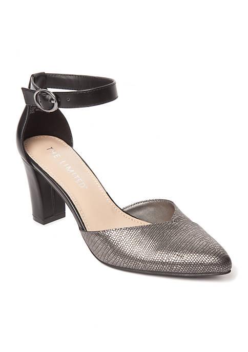 Shawna Ankle Strap Block Heel
