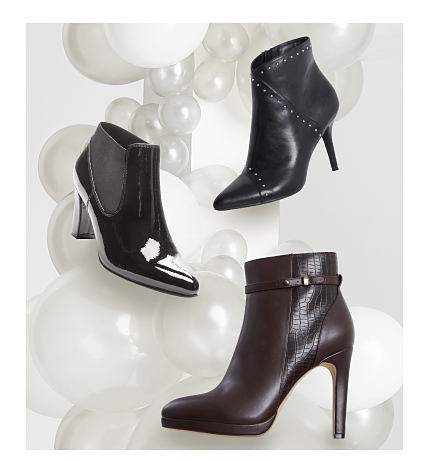 3 styles of black booties