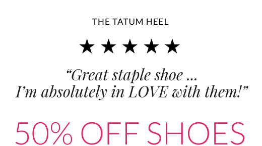 tatum heel great staple shoe... i am absolutely in love with them 50% off shoes