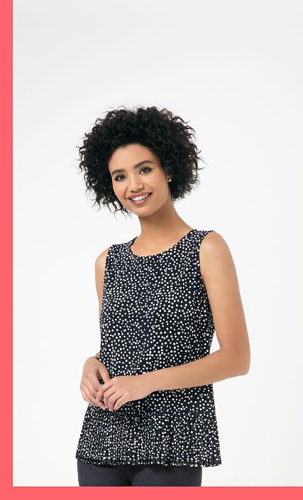 woman wearing a black top