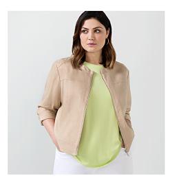 woman wearing white jacket and black shirt