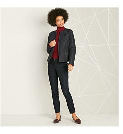 woman wearing suit